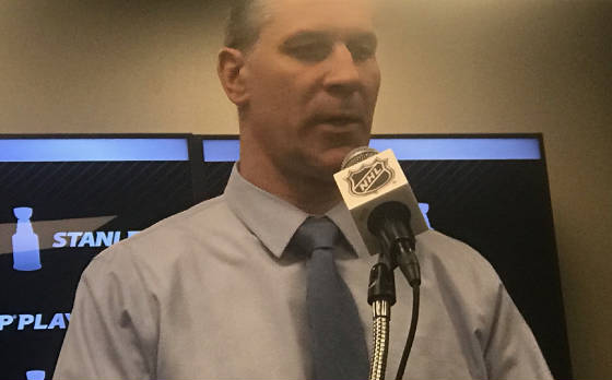 59e035126f By the time Jared Bednar arrived at the interview room podium after the  Avalanche's 3-2 overtime win over the No. 1-seeded Flames gave No.